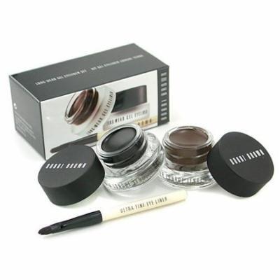 WOMEN Long Wear Gel Eyeliner Duo: 2x Gel Eyeliner 3g ( #Black Ink, #Sepia Ink ) + Mini Ultra Fine Eye Liner Brush --3pcs Bobbi Brown