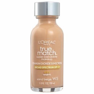 L'Oreal Paris True Match Super-Blendable Foundation Makeup, Sand Beige1.0 fl oz