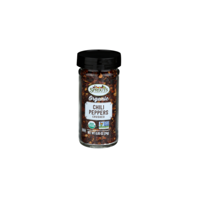 Pack of 3 - Sprouts Organic Crushed Chili Peppers, 0.85 OZ