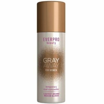 3 Pack - EverPro Beauty Beauty Gray Away Temporary Root Concealer, Lightest Brown/Medium Blonde 1.5 oz