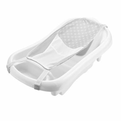 The First Years Sure Comfort Newborn to Toddler Baby Bath Tub, Infant Bath Tub, White