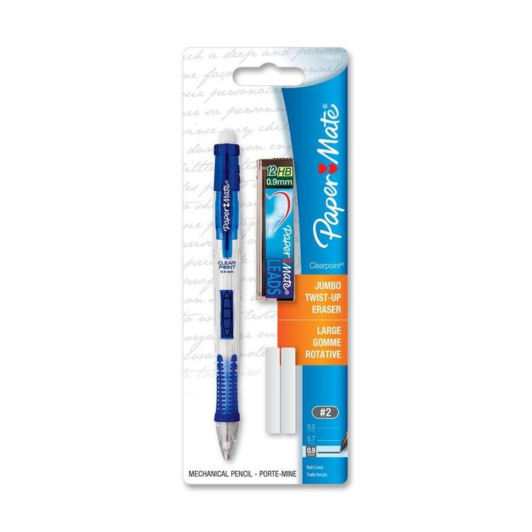 Papermate Paper Mate Clearpoint Mechanical Pencil - 0.9mm Lead Size - Refillable - Assorted Barrel - 1 / Pack