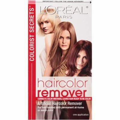 Colorist Secrets Haircolor Remover, Haircolor Remover corrects color mistakes, leaving hair ready to re-color. By LOreal Paris