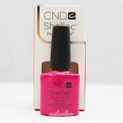 Generic HOT Sale CND Shellac UV LED Gel Nail Polish Base Top Coat 7.3ml 0.25oz Discount Tutti Frutti 40506