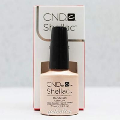Generic HOT Sale CND Shellac UV LED Gel Nail Polish Base Top Coat 7.3ml 0.25oz Discount Dandelion 90781