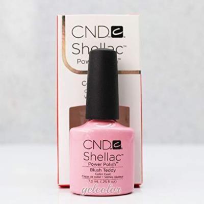 Generic HOT Sale CND Shellac UV LED Gel Nail Polish Base Top Coat 7.3ml 0.25oz Discount Blush Teddy 90484
