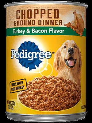 PEDIGREE® Wet Dog Food Chopped Ground Dinner with Turkey & Bacon