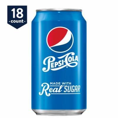 Pepsi Real Sugar, 12 oz Cans, 18 Count
