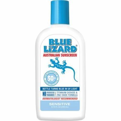 Blue Lizard Australian Sunscreen - Sensitive Skin Sunscreen SPF 30+ Broad Spectrum UVA/UVB Protection - 8.75 oz Bottle, Two Pack