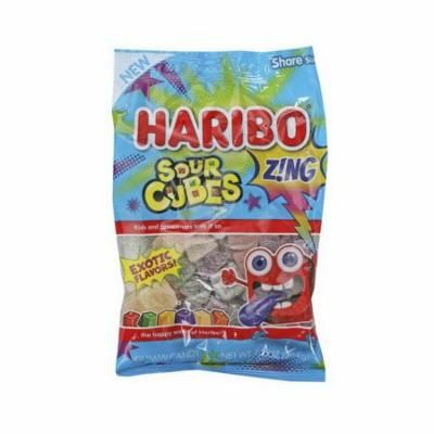 (Price/CASE)Haribo 39532 Haribo Confectionery Sour Cubes 7.2 oz. Peg Bag - 10 Ct Caddy