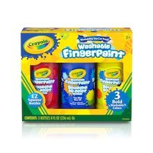 Crayola Washable Bold Fingerpaint, Primary Colors 3 ct.