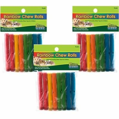 """24 Piece Ware Manufacturing Assorted 6.75"""" Rainbow Chews Rolls (3 Packages with 8 Rolls each)"""