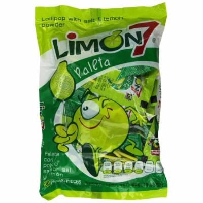 Limon 7 Paleta (Lollipop Covered with Lemon and Salt Powder