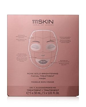 111SKIN Rose Gold Brightening Facial Treatment Masks, Set of 5