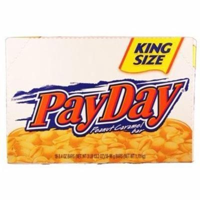 Payday King Size Peanut Caramel Bar 18 Count