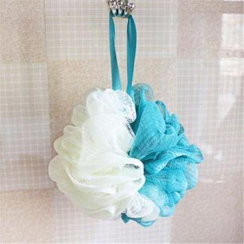Staron Loofah Bath Sponge Soft Set by Shower Bouquet Pastel Colors Extra Large Mesh Pouf Scrubber Big Lush Lathering Cleanse & Beauty Bathing Accessories