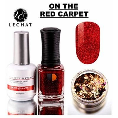 LeChat Perfect Match Gel Polish & Nail Lacquer, Gel Polish with Matching Regular Nail Polish Color (with Nail Glitter Kit) LED & UV Cured Soak Off Nail Formula 2 x 0.5 oz (79 On The Red Carpet)