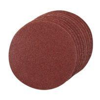 10 disques abrasifs non-perforés auto-agrippants D. 125 mm Grain 240 - 742135