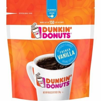 Dunkin' Donuts French Vanilla Blend Ground Coffee, Medium Roast (45 Ounce)