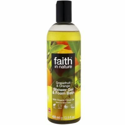 Faith in Nature Grapefruit and Orange Shower Gel and Foam Bath, 13.5 Oz