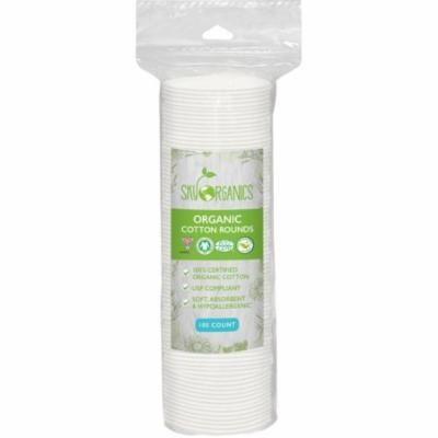 Sky Organics Cruelty-Free 100% Biodegradable Cotton Rounds, 100 ct.