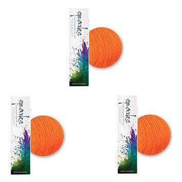 SPARKS Lasting Bright Permanent Hair Color Orange Crush 3oz HC-00404 (3 Pack)