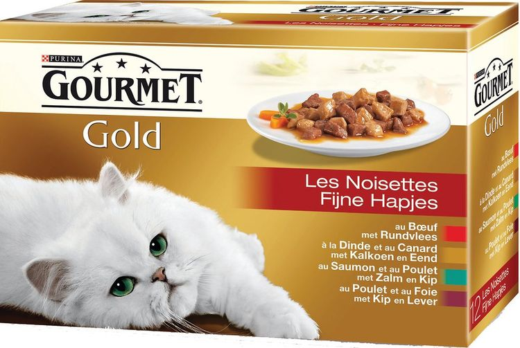Aliment chat adulte PURINA Gourmet Gold viandes 12 x 85 g