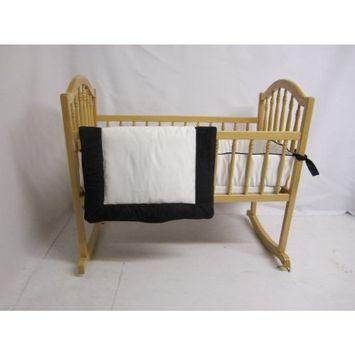 Baby Doll Bedding Zuma Cradle Bedding Set, Black/White