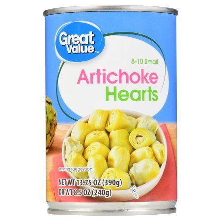 Great Value Artichoke Hearts, 8-10 Small, 13.75 oz