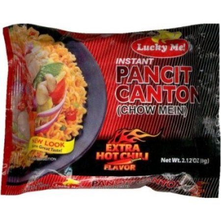 LUCKY ME Pancit Canton Chow Mein Extra Hot Chili Flavor 60g