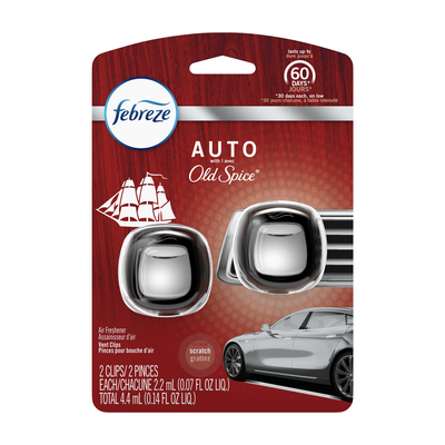 AUTO Odor-Eliminating Car Air Vent Clip with Old Spice , 2 count