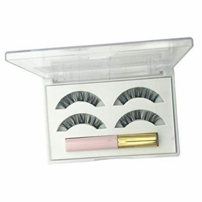 Fashion False Eyelashes Magnetic Liquid Eyeliner Pencil Fake Eyelashes Set Waterproof Lasting Cosmetic - White
