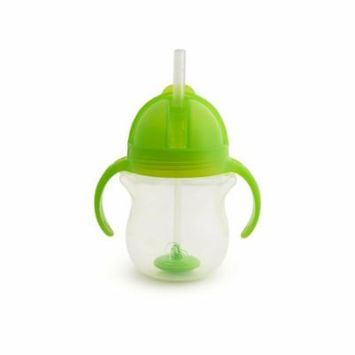 Munchkin Click Lock Weighted Straw Cup, 7 Ounce, Green 1 Count