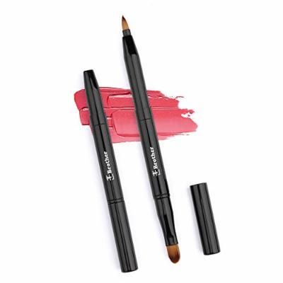 Lip brush, eyebrow brush,super soft portable 2in1For gifts or travel