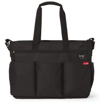 Skip Hop Duo Double Signature Changing Bag in Black