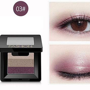 Binmer(TM)3 Colors Women Cosmetic Makeup Neutral Nudes Warm Eyeshadow Palette