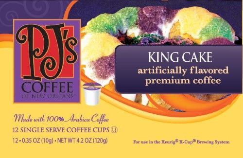 PJ's Coffee King Cake Coffee, Single Serve 12-pk.