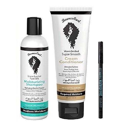 Bounce Curl Light Creme Gel - Moisturizing/Clarifying Shampoo - Cleansing/Cream Conditioner & Travel Tubes (3x Bounce Curl Gel/Travel Tube)