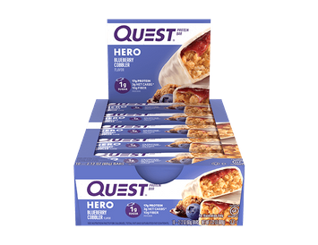 Quest Hero Protein Bar - Blueberry Cobbler - 10 Count