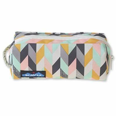 KAVU Pixie Pouch Accessory Travel Toiletry and Makeup Bag - Chevron Sketch