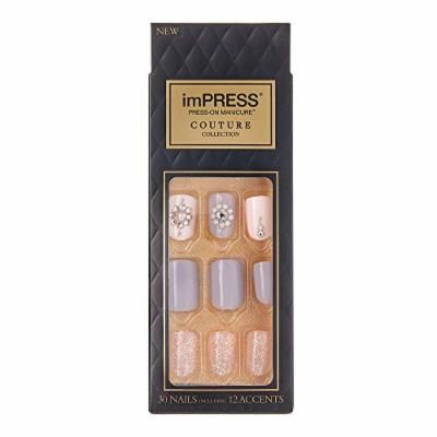 Kiss Impress Press-on Manicure One-Step Gel Nails Couture Collection - KISS imPRESS Press-on Manicure Couture Collection - Sassy Queen (Pack of 1)