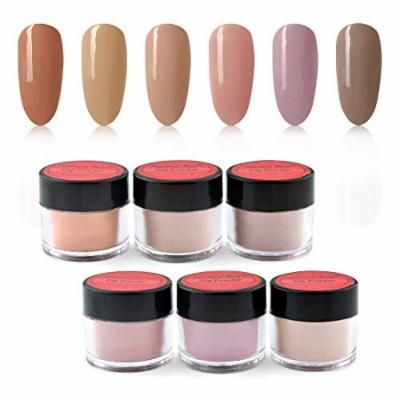 Honey Joy Dip Powder Nail Kit 6 Color, Light Brown Coffee Nude (DP-H-6pcs-10g/box)