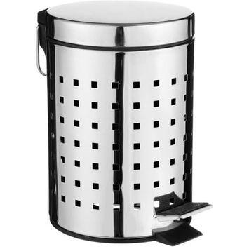 Poubelle 3L Cube inox SDB