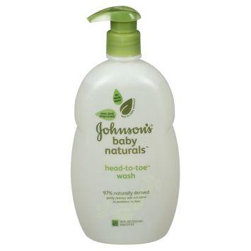 Johnson's Natural Head-to-Toe Foaming Baby Wash, 18 fl oz