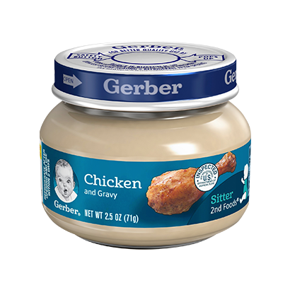 Gerber 2nd Foods Chicken & Gravy Baby Food - 2.5oz