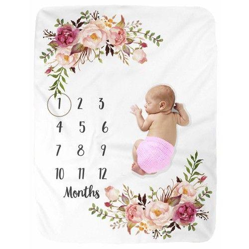 Milestone Blanket/Baby Milestone Blanket Girl Boy/Large Baby Blankets for Girls and Boys Newborn Photography Premium Fleece Baby Monthly Blanket Shower Gifts