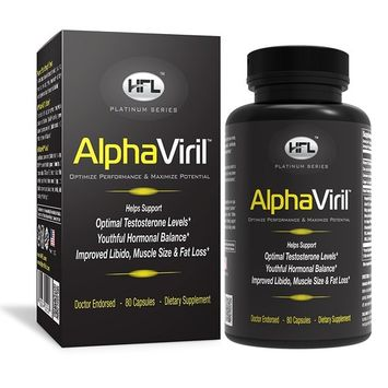 AlphaViril by Dr Sam Robbins | Natural Testosterone Booster, Increases Libido, Sex Drive, Strength, Energy, Stamina, Builds Muscle | Made in USA | Tongkat Ali Extract, Horny Goat Weed, Zinc. [AlphaViril]