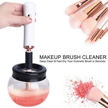 SKINOSM Electric Makeup Brush Cleaner Automatic Brush Cleaning Tool Deeply Clean & Dry for All Sizes of Brushes in Seconds Perfect Gift for Girls [makeup brush cleaner]