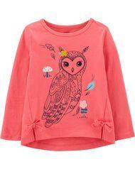 Carter's Owl Jersey Tee