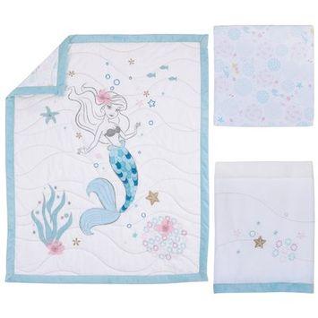 Desigual Disney© Crib Bedding Set 3pc - Ariel Sea Princess